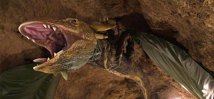 Tettyei Mésztufa-barlang sárkány